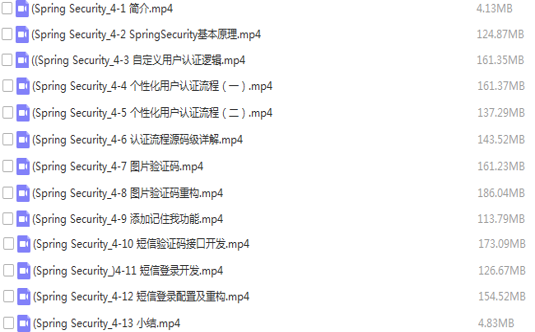 Spring Security原理加认证板块